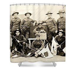Wwi Us Army Signal Corps Shower Curtain by Historic Image