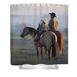 Wyoming Ranch Shower Curtain by Diane Bohna