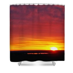 Wyoming Sunrise Shower Curtain by Juli Ellen