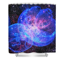 X-factor In Universe. Strangers In The Night Shower Curtain