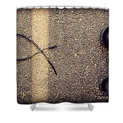 Shower Curtain featuring the photograph X On The Line by Meghan at FireBonnet Art