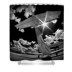X Ray Plane Shower Curtain by Paul Job