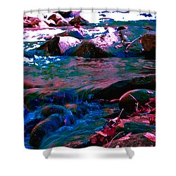 Xanadu Shower Curtain by DigiArt Diaries by Vicky B Fuller