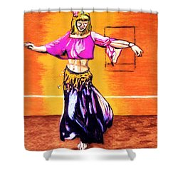 Shower Curtain featuring the drawing Xenia Dance 2 by Ayasha Loya