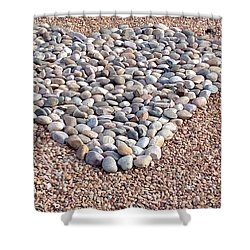 Xeriscape Heart Shower Curtain