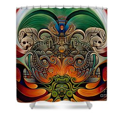 Xiuhcoatl The Fire Serpent Shower Curtain