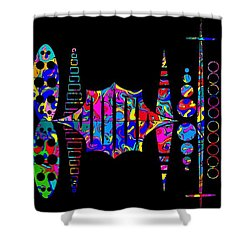 Shower Curtain featuring the photograph Xongulo City by Mark Blauhoefer