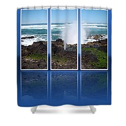 Shower Curtain featuring the photograph Yachats Bay Oregon by Nick Kloepping
