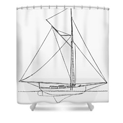 Yacht: Kelpie, 1882 Shower Curtain by Granger