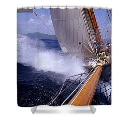 Yacht Race, Caribbean Shower Curtain