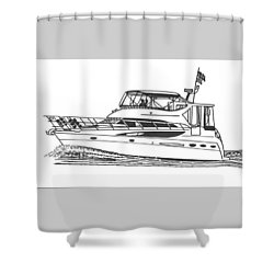 Yachting Good Times Shower Curtain by Jack Pumphrey