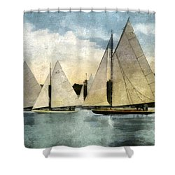 Yachting In Saugatuck Shower Curtain