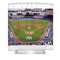 Yankee Stadium Shower Curtain by Allen Beatty
