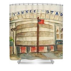 Yankee Stadium  Shower Curtain by Elaine Duras