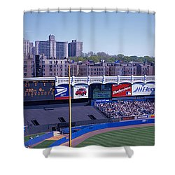 Yankee Stadium Ny Usa Shower Curtain by Panoramic Images