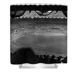 Yankees Defeat Giants Shower Curtain by Underwood Archives