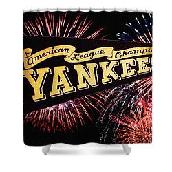 Yankees Pennant 1950 Shower Curtain by Bill Cannon