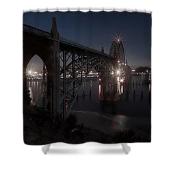 Yaquina Bay Bridge - Newport Oregon Shower Curtain by Daniel Hagerman