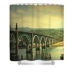 Yaquina Bay Bridge Or Shower Curtain by Joyce Dickens