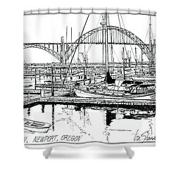 Yaquina Bay Newport Oregon Shower Curtain by Ira Shander