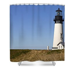 Yaquina Head Lighthouse 3 Shower Curtain by David Gn