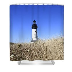 Yaquina Head Lighthouse Shower Curtain by David Gn