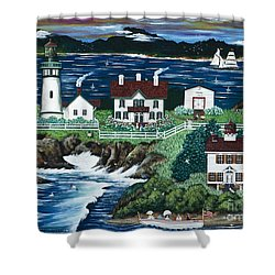 Yaquina Lighthouse Shower Curtain