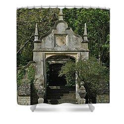 Yarnton Sundial Shower Curtain by Joseph Yarbrough