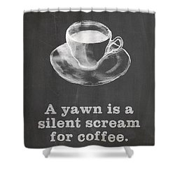 Yawn For Coffee Shower Curtain