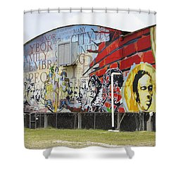 Ybor Mural Shower Curtain by Laurie Perry