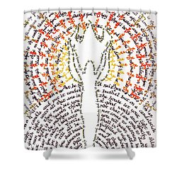 Ye Are The Light Of The World Shower Curtain by Hidden  Mountain