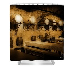 Ye Old Wine Cellar In Tuscany Shower Curtain by John Malone