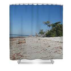 Shower Curtain featuring the photograph Ye Olde Pirates Chest by Robert Nickologianis