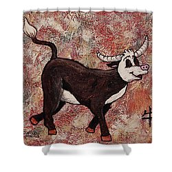 Year Of The Ox Shower Curtain by Darice Machel McGuire