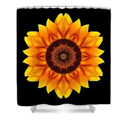 Yellow And Orange Sunflower Vi Flower Mandala Shower Curtain