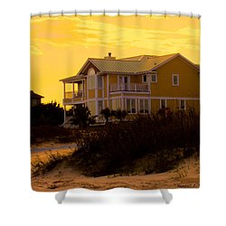 Yellow Beauty At Isle Of Palms Shower Curtain by Kendall Kessler