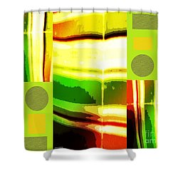 Shower Curtain featuring the mixed media Yellow Bliss by Ann Calvo