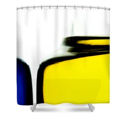 Yellow Blue Shower Curtain by Bob Orsillo