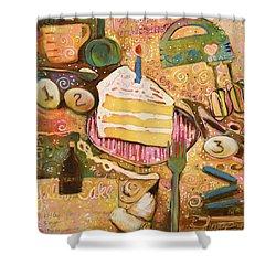 Yellow Cake Recipe Shower Curtain