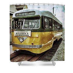 Yellow Car - Los Angeles Shower Curtain