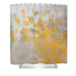 Yellow Cloud Shower Curtain