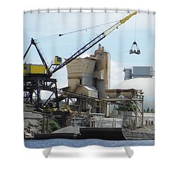 Yellow Crane Shower Curtain