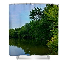 Yellow Creek Shower Curtain