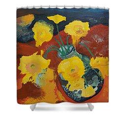 Yellow Daisies Shower Curtain by Joseph Demaree