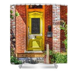 Yellow Door Shower Curtain by Liane Wright
