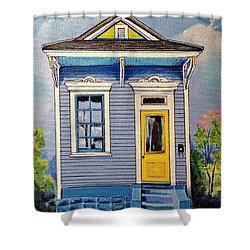Yellow Door Shotgun  Shower Curtain