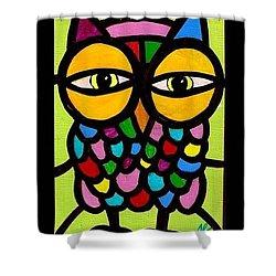 Yellow Eyes Shower Curtain by Jim Harris