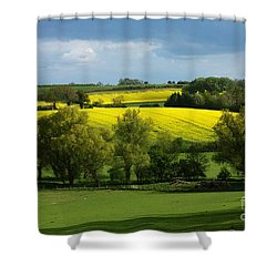 Yellow Fields In The Sun Shower Curtain
