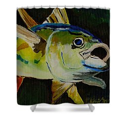 Yellow Fin Tuna Shower Curtain