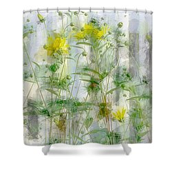 Yellow Flower Garden Shower Curtain